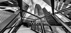 SHINJUKU (B Lucava) Tags: tokyo shinjuku cocoontower cocoon tower monochrome blackandwhite buildings fisheye samyang 8mm skyscraper abstract city cityscape defished