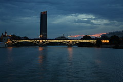 Guadalquivir (Agne's) Tags: siviglia seville spagna spain guadalquivir river bridge water light sevilla