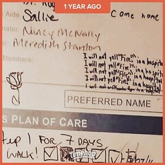 """The notes from Alyssa and Ryan kept me motivated, though """"come home"""" broke my heart.💔 #gastricbypass #gastricsleeve #gastricrevision #gastriculcers #ulcerperforations #gastricleak #dying #Timehop (Jenn ♥) Tags: ifttt instagram"""