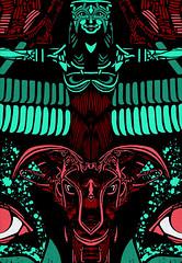 XWWX ATLANTIS NEON LAPIS detail 2 (atlantisdeception) Tags: xwwx atlantis theatlantisdeception the deception nohj nohjxwwx markhjackson unbound book of john hunter johnhowse howse brookes amreading amwriting markjackson nohjhowse xwwxart art print design thoth isis horus anubis dead reborn ram khem kem atlantean mystic mystical occult esoteric lapis turquoise neon orion
