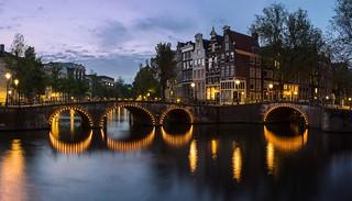 Dans le port d'Amsterdam...