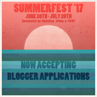 Summerfest '17 Blogger Applications are now open!