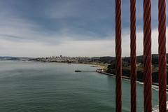 San Francisco seen from the mighty Golden Gate... [San Francisco, CA, USA - 2014] (Jose Constantino Gallery) Tags: usafeb2014nikon california unitedstates usa sanfrancisco west goldengate bridge red 2014 joséjoseconstantino d7100