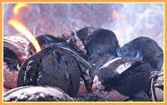 2211 b1 Hot coals (Andy - Not too busy) Tags: barbq bbb burning ccc charcoal coals smoking sss