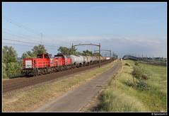 DBC 6509 + 6515 - 48571 (Spoorpunt.nl) Tags: 31 mei 2017 moerdijkbrug willemsdorp dbc db cargo 6509 6515 buna werke trein 48571