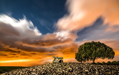 Judgement day. (darklogan1) Tags: nightphotography dolmen longexposure rocks logan darklogan1 alava basque spain outdoor sky landscape clouds stars dramatic