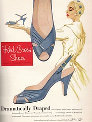Red Cross Shoes 1956 (barbiescanner) Tags: vintage retro fashion vintagefashion 50s 50sfashion vintageshoes redcrossshoes