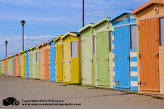 Huts (www.eastsussexphotography.com) Tags: seaford beach hut huts colors colours sea ocean sussex england canon 5dmk3 100400l