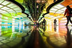 Our Endless Numbered Days (Thomas Hawk) Tags: america chicago illinois michaelhayden ohareinternationalairport skysthelimit usa unitedairlines unitedstates unitedstatesofamerica airport neon fav10 fav25 fav50 fav100