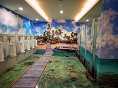 Toilet at Sepinggan Airport, Balikpapan, Indonesia (ARIAMAN) Tags: sepinggan toilet eastkalimantan indonesia balikpapan theme sea airport bandara borneo