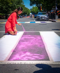 2017.06.10 Painting of #DCRainbowCrosswalks Washington, DC USA 6336