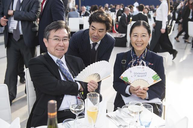 Hiroshi Tabata attending the Gala Dinner