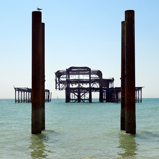 end of the pier...