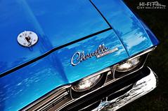 Script says Chevelle (Hi-Fi Fotos) Tags: 1969 69 chevy chevelle blue chrome badge script logo emblem detail vintage american musclecar classiccar headlight hood pin shine nikon d5000 hififotos hallewell