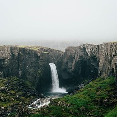 Roughly fourteen percent of Iceland's landmass is covered with lakes and glaciers. This means as summer builds hundreds of waterfalls double, triple, even quadruple their flow with glacial runoff. When one of those waterfalls is paired with low-lying stra
