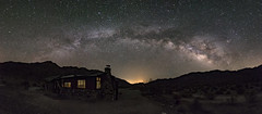 Milky Way Panorama Over an Old Miner's Cabin in Corn Springs (slworking2) Tags: cabin old mining cornsprings desert historic wodetzki milkyway night nightsky nighttime california unitedstates us
