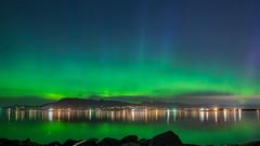 Aurora Borealis Over Vancouver BC (photosauraus rex) Tags: aurora northernlights vancouver bc canada auroraborealis night