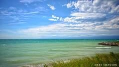 Lincoln Township Beach (mswan777) Tags: beach dune shore coast seascape sky cloud wind waves water grass sand nikon d5100 sigma 1020mm landscape lake michigan stevensville rock scenic