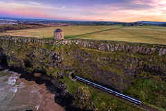 """Mussenden Temple & Downhill Demesne"" (Gareth Wray - 10 Million Views, Thank You) Tags: benone beach strand downhill limavady londonderry castlerock portstewart northern ireland irish sunset ni house mussenden temple demense bishops gate tourist attraction tourism visit summer scenic landmark gareth wray photography strabane nikon view old heritage building ruin blue sky green grass country side countryside holiday national trust bishop frederick augustus hervey uk united kingdom windows door stone brick photographer garethwrayphotography 2017 vacation europe tower architecture dji phantom 4 four drone quadcopter derry"