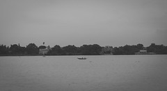 In to the Nature (rizzee) Tags: bw monochrome landscape canon nature kolkata ganga boat monsoon mood photography bnw powershot path