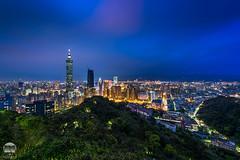 Taipei Blue hour (kenneth chin) Tags: taipei101 bluehour cityscape nikon d810 nikkor 1424f28g taiwan taipei elephant mountain city attraction google yahoo