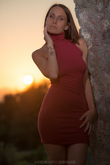 Silvia (Sandro Gherbassi 1968) Tags: girl beauty sexy sunset eyes backlight dress light portrait legs young younggirl nikon d800
