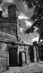 Tower doorway (WISEBUYS21) Tags: calton hill grave graveyard edinburgh burn hume blackandwhite tower grey sky dark moody scotland united kingdom uk