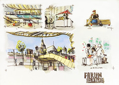 La canopée des Halles, Paris (velt.mathieu) Tags: paris halles croquis sketch watercolor aquarelle