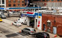 NYC Service Station Scene (LJS74) Tags: tiltshift manhattan midtown newyorkcity nyc city servicestation gasstation architecture