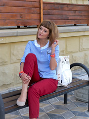 DSCN3484+Doshedevr+Ps (Mama Told Me) Tags: outfit look lookoftheday outfitoftheday lookbook marsala stripes cats backpack casual model fashionblogger fancy activered howtowear sunglasses catlook catlover
