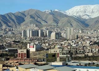 Tehran clean sky city skyline, Iran