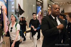 Business as Usual (Mike Verillo) Tags: protest political dissent demonstration protesters protestphotography photo photography photojournalism protestsigns journalism new york nyc city march action blm black lives matter antifa anti fascist anarchist bloc macys mayday may day streetphoto street