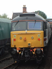 An end on photo of 47828 at the severn valley diesel gala 20.5.2017 showing its LED lighting (srh474) Tags: class 47 828 intercity 47828 bewdley severn valley railway diesel gala west mids midlands