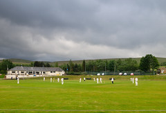 Marsden Cricket Club 2nd XI vs Moorlands CC 2nd XI on a stormy day at Hemplow, West Yorkshire (kyliepics) Tags: olympus e520 evolt520 olympuszuikodigital1122mmf2835 srbpsizend093stopgradfilter darktable addedtogroups