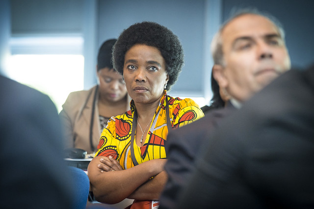 Lydia Sindisiwe Chikunga listening