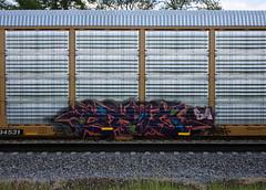 Stoe (quiet-silence) Tags: graffiti graff freight fr8 train railroad railcar art autorack stoe stoer cdc ba
