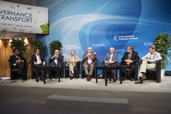 Speakers discussing during the session