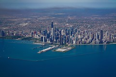 Flying (karinavera) Tags: travel sonya7r2 flying aerial view chicago daytime cityscape building architecture city