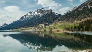 the reflection Sufnersee Graubünden 1.)-1484
