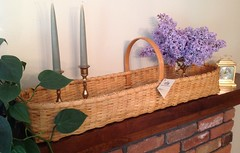 Mantel Basket (Nutmegbasketry) Tags: mantelbasket buffetbasket shakerbasket shaker handwoven newenglandmade basket basketmaker basketry