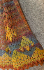 IMG_0932.jpg (elizabeth.j.woods) Tags: tutor christchurch margaretstove handdyed scarf creativefibres handspun knitting entwinefestival2017 newzealand textiles lace