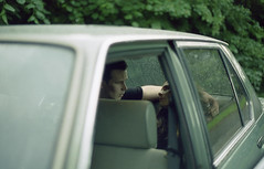 With Confidence (fraser_west) Tags: film 35mm cinestill 50d cinestillfilm people couple relationship girl boy car love uk bmw musicvideo naturallight