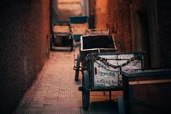 Retreat (toletoletole (www.levold.de/photosphere)) Tags: xt2 bazaar marrakesch kasbah marokko fuji morocco marrakesh street carts night gasse lane karren nacht