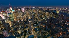 NYC from Empire State Building (..Javier Parigini) Tags: empirestatebuilding cityscape usa unitedstates estadosunidos newyork newyorkcity manhattan nyc nuevayork nikon nikkor d800 1424mm f28 flickr javierparigini