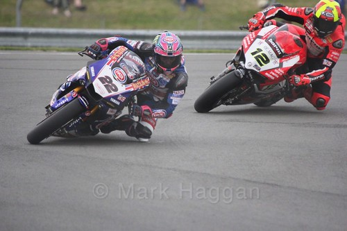 Alex Lowes and Javier Fores in World Superbikes at Donington Park, May 2017