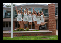 CELEBRATING (Peter Camyre) Tags: quinnipiac university college girls celebrate celebration jumping fun smile people ladies peter camyre photography