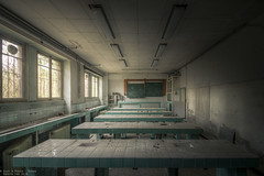 Weird Science (Dennis van Dijk) Tags: urbex urban exploration france forgotten abandoned derelict decay school college boarding pensionat catholique katholiek internaat learn learning chemistry class room colours colorfull moody lost found dust rust