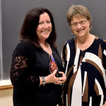 Jill-Ellyn Straus, Distinguished Alumni Award Recipient; Wendy Heller, Head