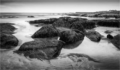 Seahouses . (wayman2011) Tags: fujifilmxt10 lightroom wayman2011 bw mono coast seascapes seaside rocks longexposures bw110 water northumberland seahouses uk