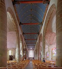 Église Saint-Jean-du-Baly - Lannion (hervétherry) Tags: france bretagne cotesdarmor lannion canon eos 7d efs 1022 église saintjeandubaly architecture religieuse monument historique nef voute lambris pilier arche
